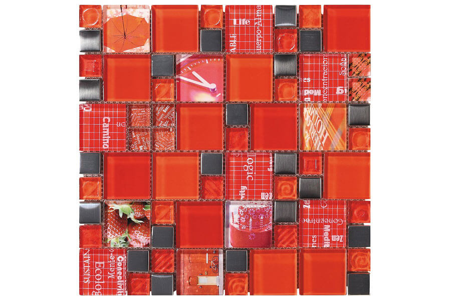 Glas Mozaiek - Carnaval Red