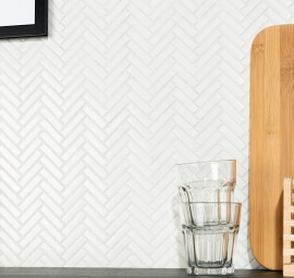 Moderne wandtegels - Chevron White Gloss