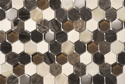 Mozaiek wandtegels - Hexagonos Brown