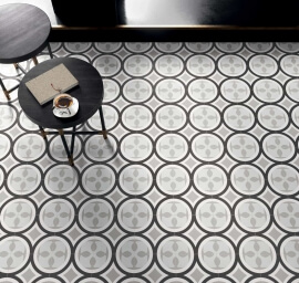 Portugese keramische wandtegels - Patchwork Black & White 01