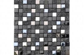 Glas Mozaiek - Cubik Black