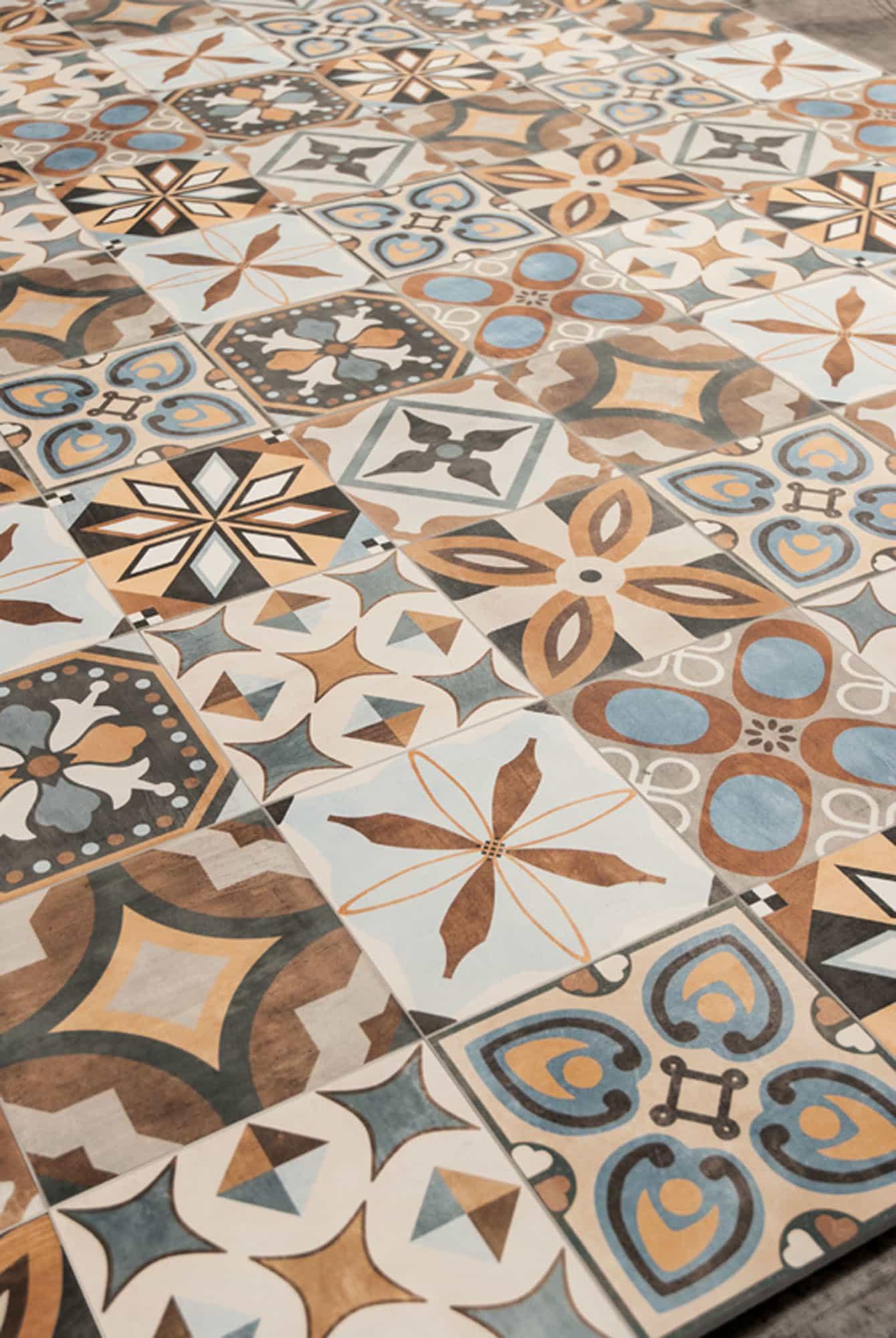 Portugese vloertegels - Patchwork Colors Mix
