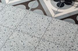 Witte wandtegels - Cementine Retro Azzurro