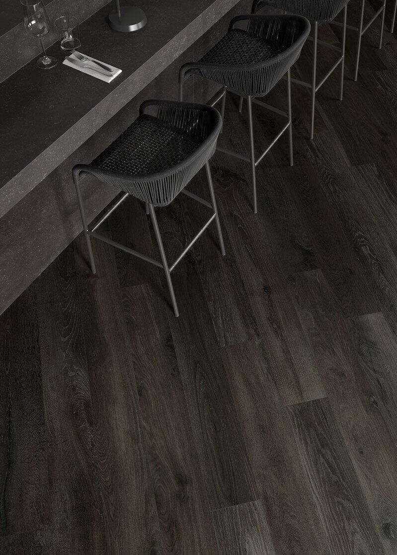 Donkere vloertegels - Les Bois Mogano