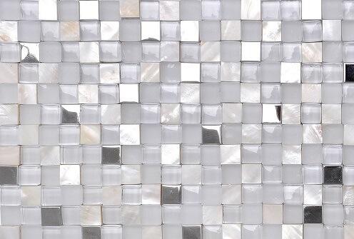 Mozaiek wandtegels - Future Ivory