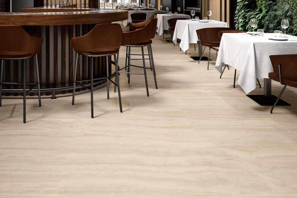 Wandtegels 90x180 - Via Appia Vein Cut Beige