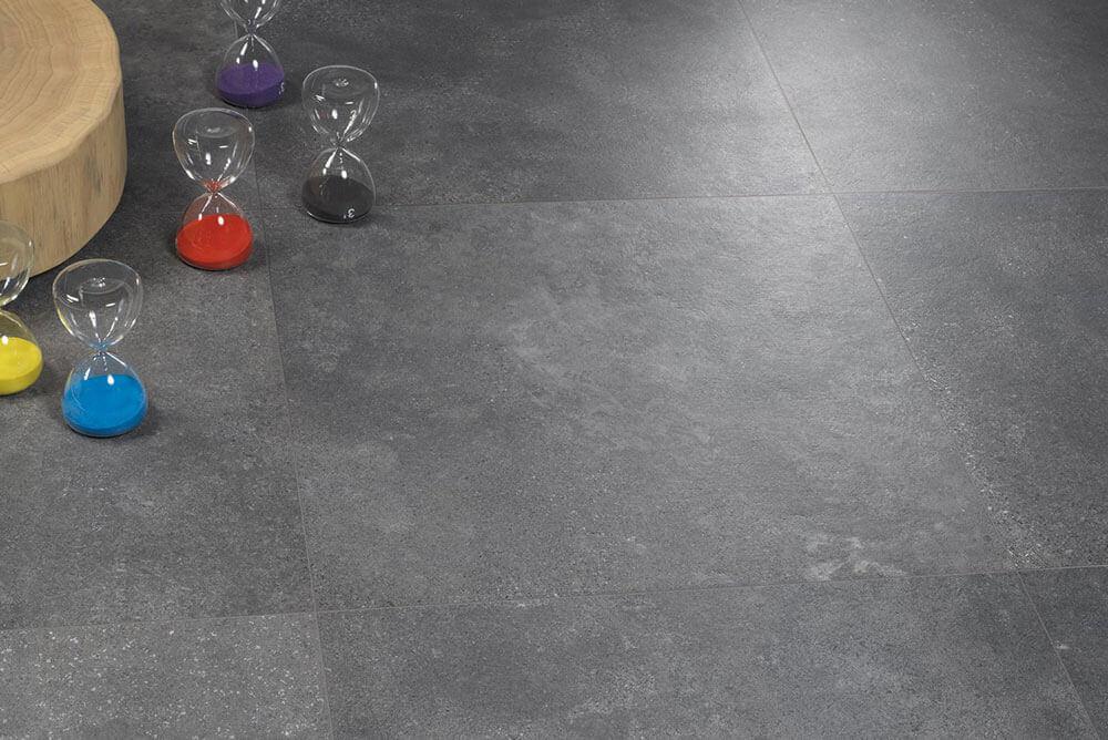Vloertegels betonlook 60x120 cm - Concrete Gravel Antracite