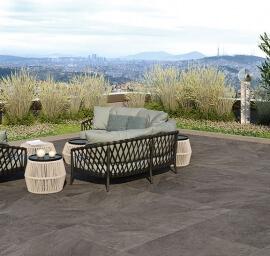 Keramiek op beton - CeraDeco Slate Antracite