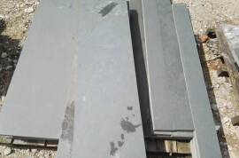 Restpartijen overige - Restpartij leisteen terrastegels 100x30x2,5cm