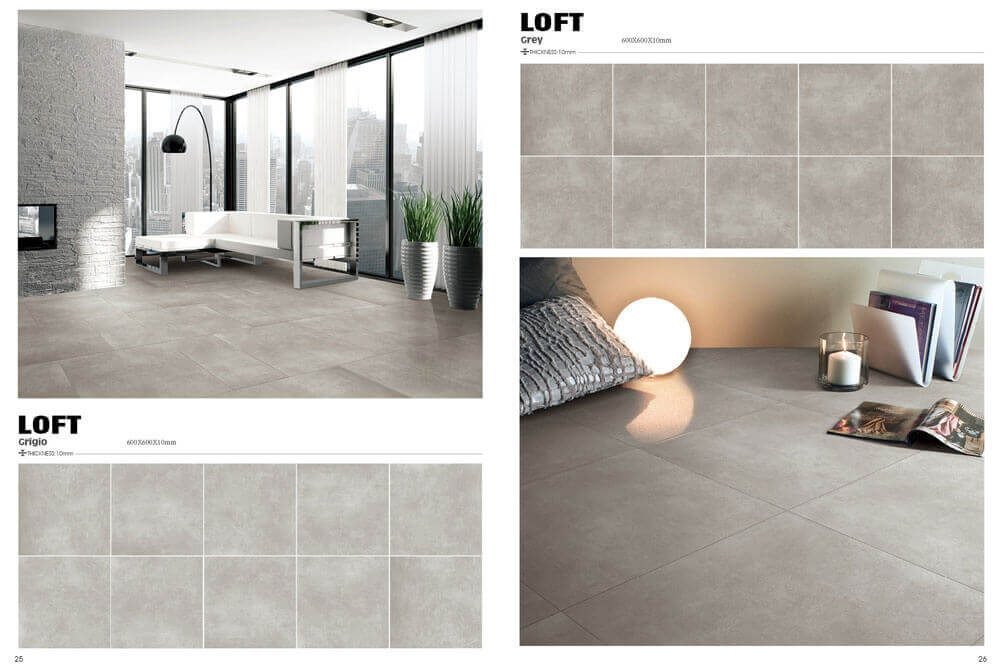Outlet wandtegels - Loft Dark Grey
