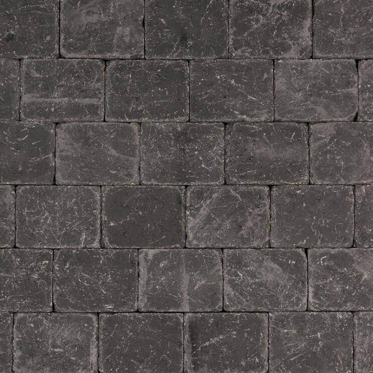 Betonbestrating - Tambour Antraciet - Getrommeld