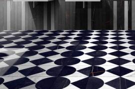 Vloertegels keuken - Byron Mosaico F-B/W
