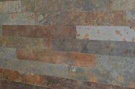 Wandtegels mix 60 x 6/8/10/12 cm - Leisteen Oxide Muurstrips