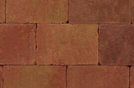 Betontegels 20x30 - Sierbestrating Trommel Terracotta / Geel 20x30