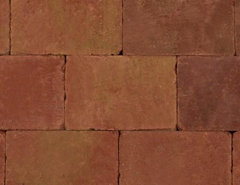 Betontegels 20x30 - Sierbestrating Trommel Terracotta / Geel