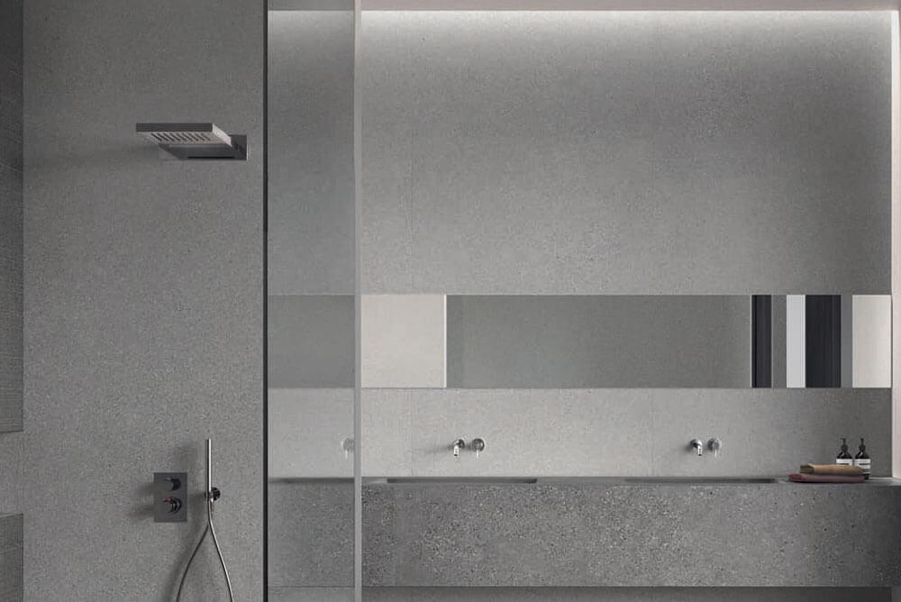 Vloertegels betonlook 30x60 cm - Grainstone Fine Grey - Naturale