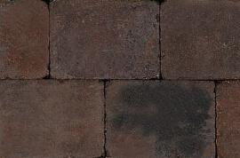 Betontegels 20x15 - Sierbestrating Trommel Bruin / Zwart