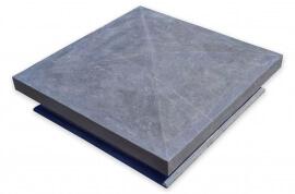 Tuinafwerking - Chinees Hardsteen Paalmuts - Diamantkop Design