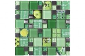 Glas Mozaiek - Carnaval Green