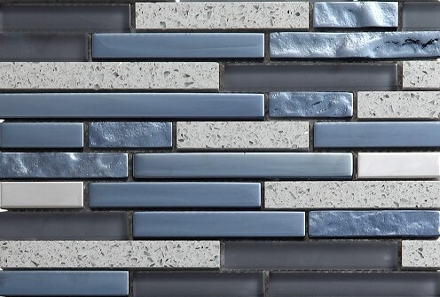 Mozaiek wandtegels - Lines Slate
