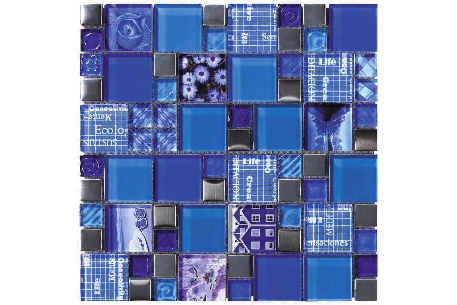 Glas Mozaiek - Carnaval Blue