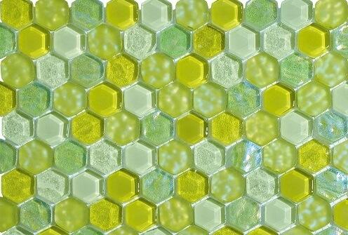 Mozaiek wandtegels - Hexagonos Green