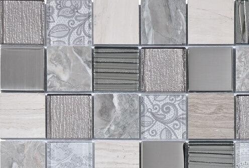Mozaiek wandtegels - Barok Graphite
