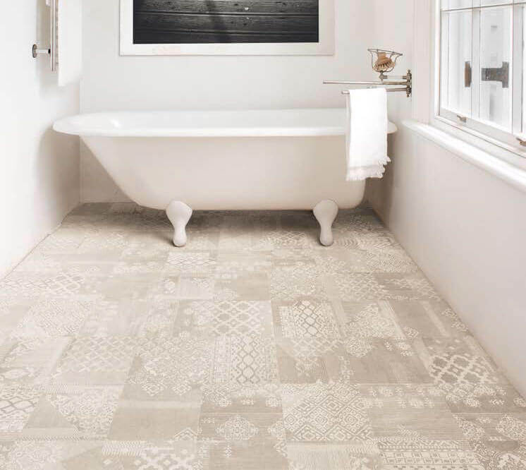 Vloertegels patroon - Gesso Taupe Linen Decoro Patchwork