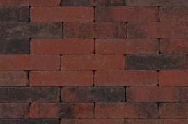 Betonbestrating - Sierbestrating Trommel Waalformaat Rood / Zwart