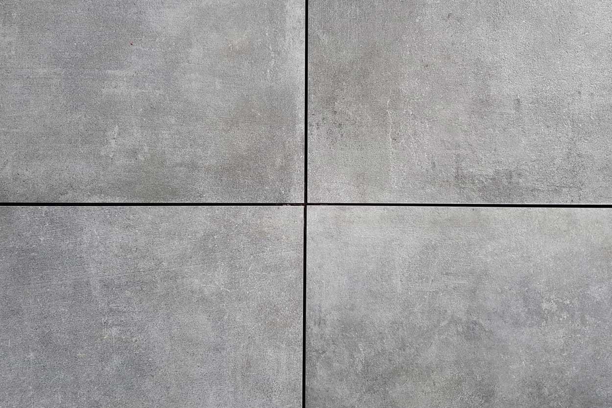 Terrastegels 75x75 - Cementi Grigio