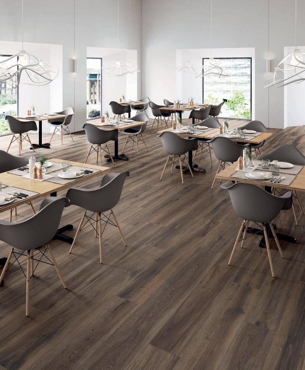 Vloertegels houtlook 30x180 cm - Barkwood Burnt
