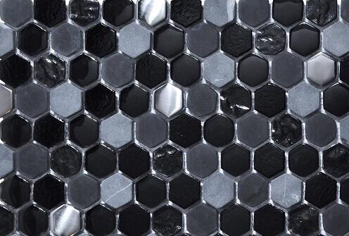 Mozaiek wandtegels - Hexagonos Black