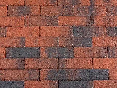 Betonbestrating - Sierbestrating Dikformaat Rood / Zwart