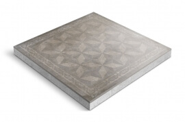 Keramiek op beton - CeraDeco Modello Rubigo