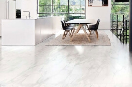 Wandtegels Marmer Look - Bianco d'Italia Calacatta - Semi gepolijst