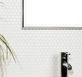 Keramische Mozaiek - Penny White Matt