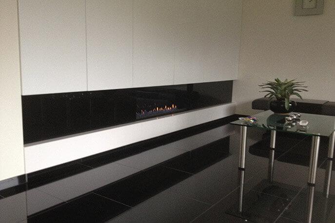 Wandtegels 40 cm - vrije lengte - Absolute Black Graniet - Gepolijst