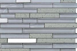 Glas Mozaiek - Lines Ivory