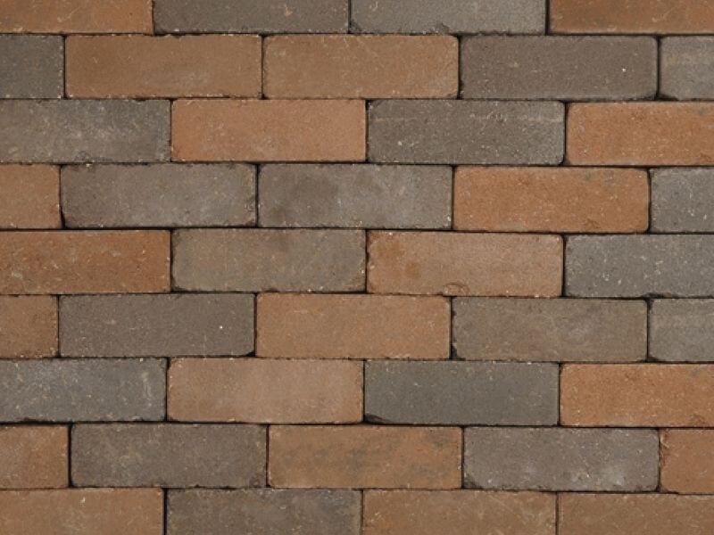 Betonbestrating - Sierbestrating Trommel Waalformaat Bruin / Zwart