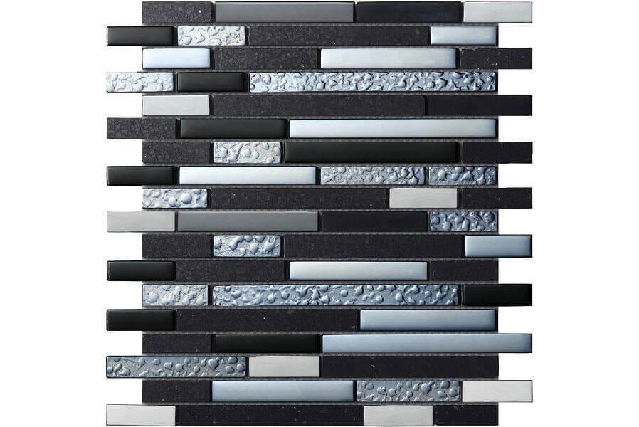 Tegels 30x30 - Quartz Black - Mozaïek