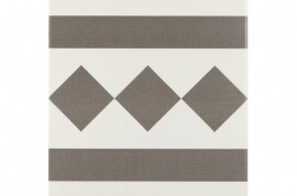Antraciet wandtegels - Antigua Gris 002 - Randstuk 20x20