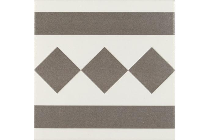 Bruine vloertegels - Antigua Gris 002 - Randstuk 20x20