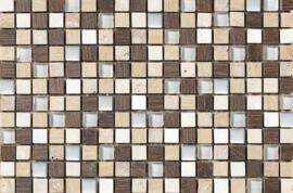 Keramische Mozaiek - Travertin Wood
