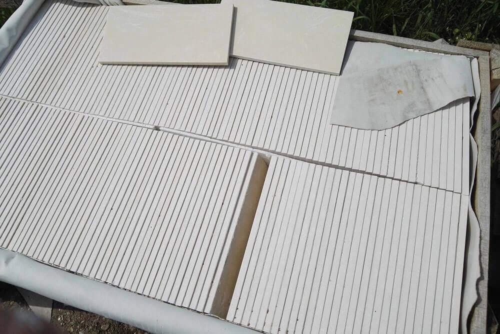 Witte Composiet vloertegels - Marmer Composiet