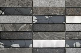 Mozaiek tegels - Canvas Graphite