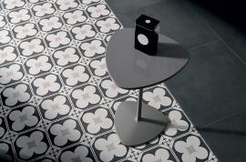 Witte vloertegels - Cementine Black&White 4
