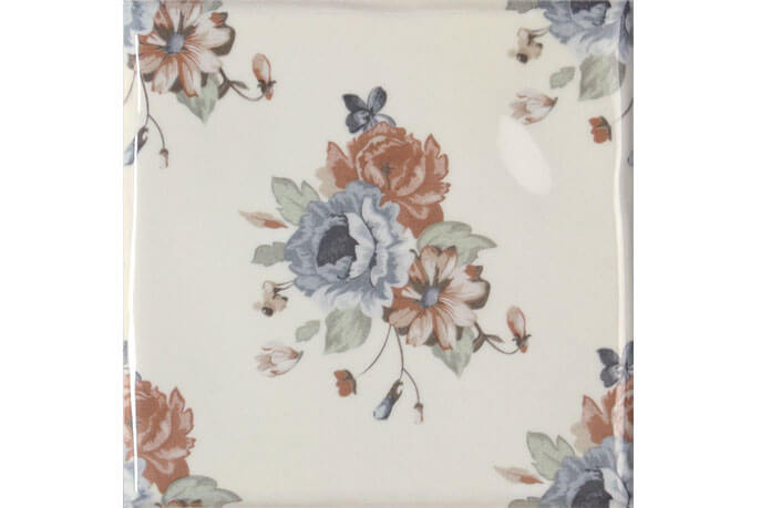 Wandtegels 15x15 - Toile Decor Flor Blanco 2 (15x15)