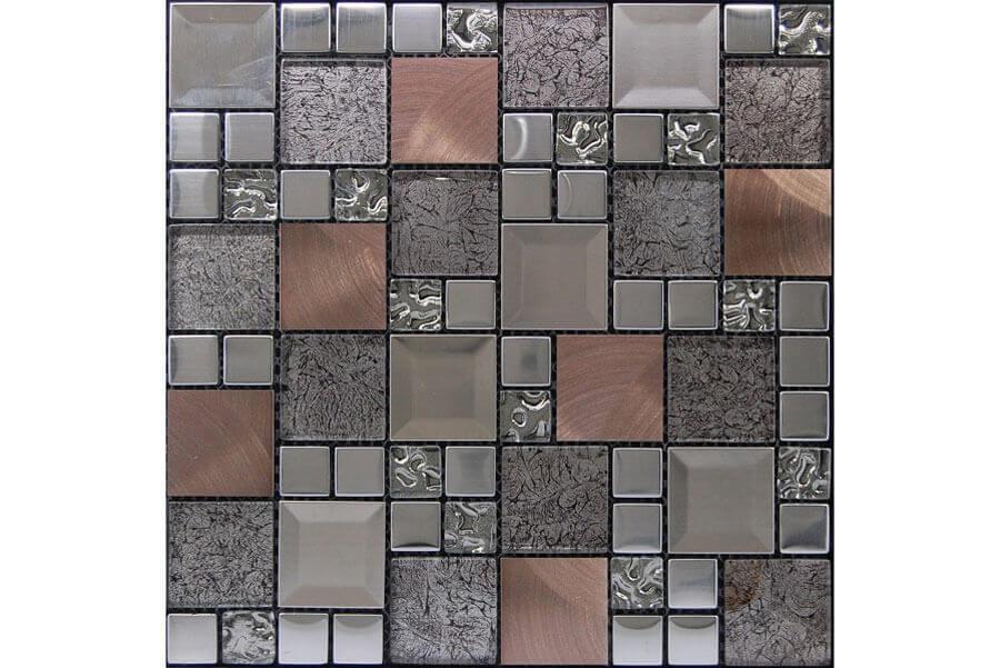 Glas Mozaiek - Kaos Silver