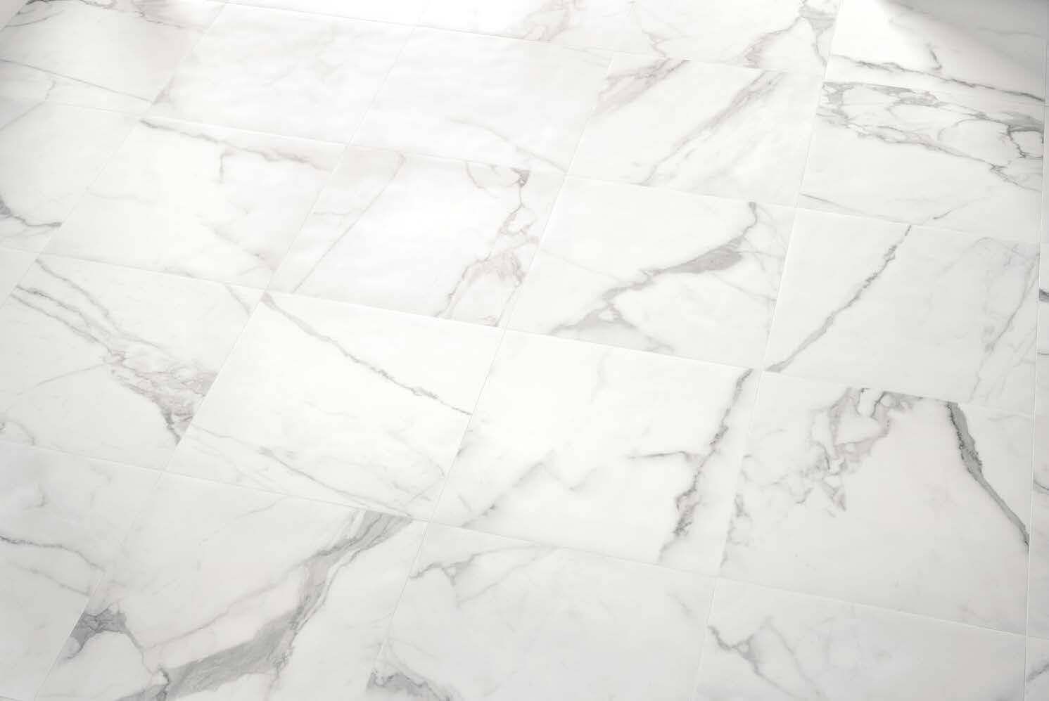 Gepolijste vloertegels - Bianco d'Italia Arabescato - Semi gepolijst