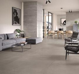 Vloertegels betonlook 90x90 cm - Tr3nd Concrete Smoke
